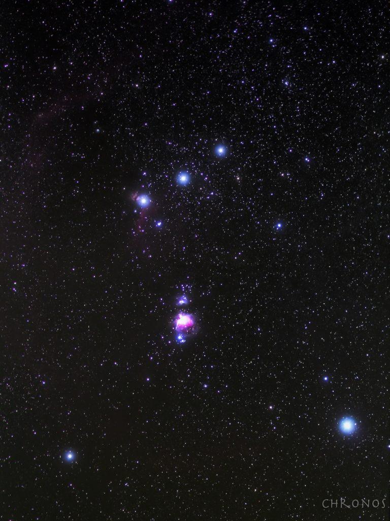 Photo du Baudrier de la Constellation d'Orion