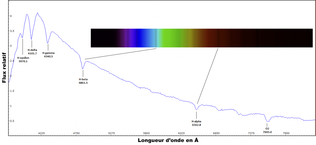 Spectre de Vega - StarAnalyser 100
