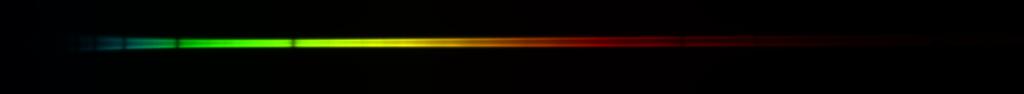 Spectre 2D de l'étoile Megrez