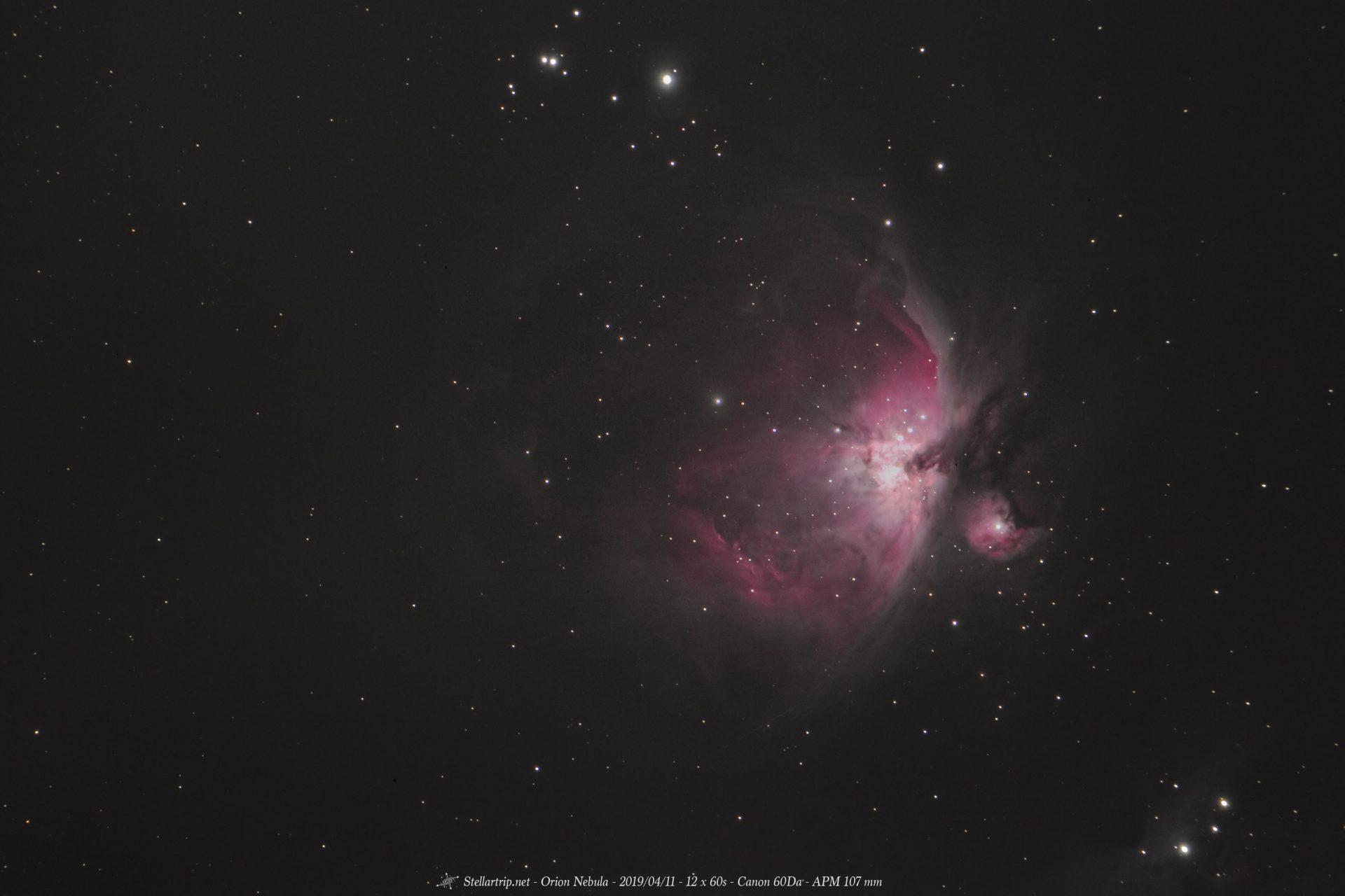 Nébuleuse d'Orion - 04/2019
