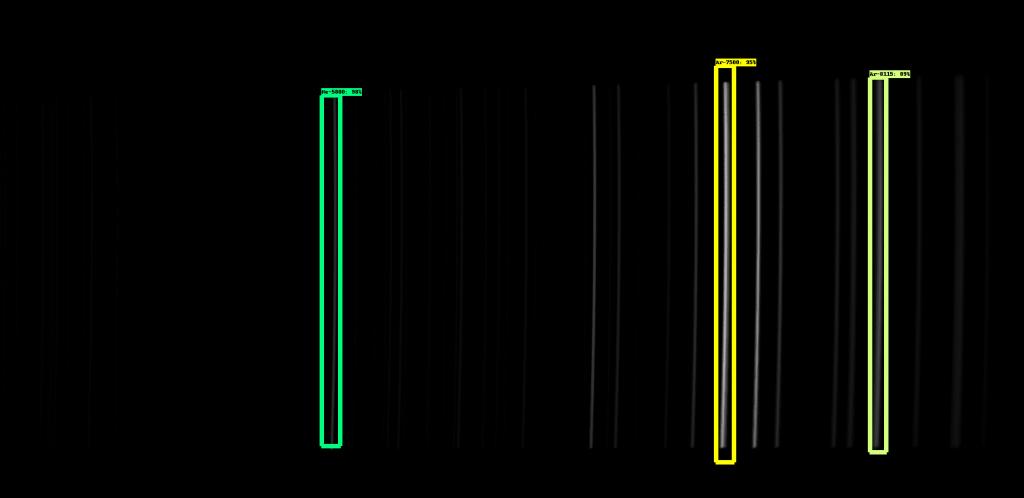 Détection des raies d'étalonnage par IA